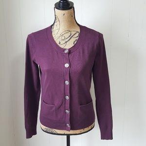 J. Jill Cardigan Sweater Stretch Button Down XS